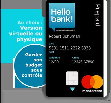 Carte Bancaire Fortis.La Hello Prepaid Card Notre Offre Hello Bank