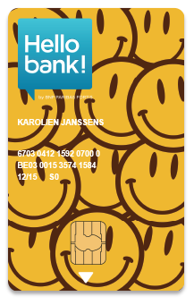 The personalised bank card | Hello bank!